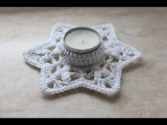 Háčkovaný svietnik - YouTube Tea Candles, Tea Lights, Crochet Earrings, Crochet Patterns, Christmas Ornaments, Blog, Diy, Celebrations, Ideas