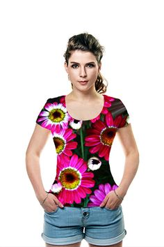 Bold Daisies by Sarah Loft. All Over Printed Art Fashion T-Shirt by OArtTee