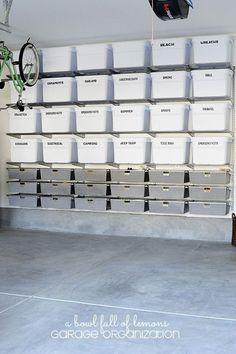 Garage Organization- CLICK THE PIC for Many Garage Storage Ideas. #garage #garagestorage
