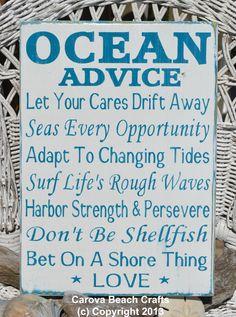 Beach Decor Beach Wedding Sign Wooden Sign by CarovaBeachCrafts, $39.00