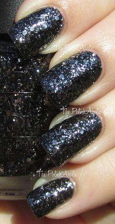 OPI Nicki Minaj collection, Metallic 4 Life. Perfect dress-up of basic black nails! Love it!