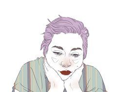 Purple Rotoscope Animated Self Portrait by Carliihde