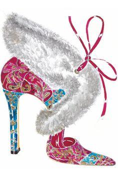 new arrival 58bd8 f5260 Manolo Blahnik at Printemps Modeillustration Schuhe, Mode Illustrationen,  Modeskizzen, Modezeichnungen, Manolo Blahnik