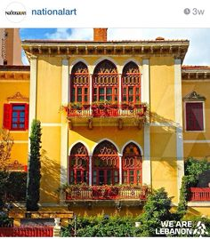 A traditional house in Bashoura, Beirut - Photo by Rami James Beautiful Places In The World, Beautiful Homes, Spanish House, Ottoman, Traditional House, The Places Youll Go, Architecture Details, Old Houses, Around The Worlds