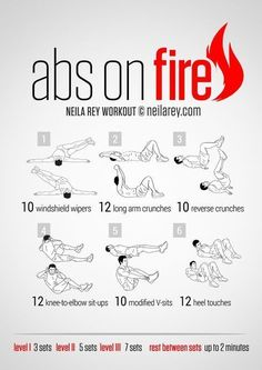 Abs on Fire Workout http://howtoloseweightfromhome.com/category/exercises/workouts