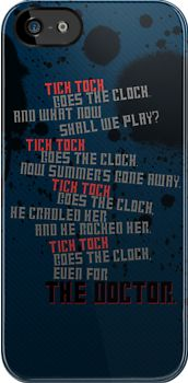 Doctor Who iPhone case. Tick Tock goes the clock. As creepy as that episode was I kinda want this Doctor Who Poem, 11th Doctor, Time Warp, Don't Blink, Criminal Minds, Dr Who, Ticks, Superwholock, Tardis