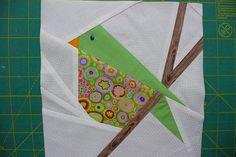 Molly Jolly bird - paper pieced by silort