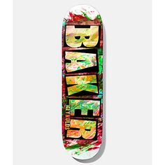 """Upgrade your complete with Andrew Reynolds' latest pro model, the Reynold Finger Paint skateboard deck from Baker Skateboards. This popsicle shape deck has a traditional seven-ply construction for plenty of pop and is finished with a colorful """"Finge Skate Decks, Skateboard Decks, Baker Skateboards, Baker Logo, Dangerous Sports, Complete Skateboards, Longboarding, Finger Painting, Skate Park"""