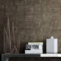 Discover the Elitis Big Croco Wallpaper with beut – Stunning crocodile skin effect wallpaper, complete with sampling service, free P&P & price match guarantee Interior Design Inspiration, Decor Interior Design, Interior Design Living Room, Luxury Wallpaper, Designer Wallpaper, Fabric Wallpaper, Pattern Wallpaper, Wallpaper Uk, Küchen Design