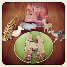 Animal souvenirs meet an H-shaped sandwich.