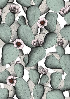 Coyote Atelier cactus art inspiration: Minakani pattern for Otto d'Ame. Surface Pattern Design, Pattern Art, Pattern Fabric, Pattern Ideas, Textile Patterns, Print Patterns, Textiles, Textile Prints, Art Prints