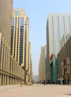 March 30, 2013. A look at Wanda Plaza in Shijiazhuang, China. This world class development includes malls hotels and endless apartment towers.