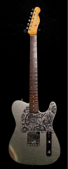 Brad Paisley's 1963 Fender Telecaster, a. Sliver Sparkle Brad Paisley's 1963 Fender Telecaster, a. Fender Squier, Fender Telecaster, Fender Guitars, Telecaster Custom, Acoustic Guitars, Music Guitar, Cool Guitar, Rock And Roll Fantasy, Fender Electric Guitar
