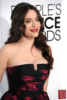 Kat Dennings in David Meister Signature at the People's Choice Awards