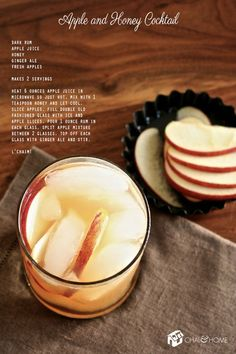 Rum and Apple Honey Cocktail, sounds deeelish! I want this just cuz, let alone for Rosh Hashanah!!