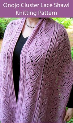 Lace Shawl and Wrap Knitting Patterns - In the Loop Knitting Free Knitting Patterns For Women, Lace Knitting Patterns, Shawl Patterns, Stitch Patterns, Knit Wrap Pattern, Bead Crochet Patterns, Knitted Shawls, Crochet Shawl, Knits