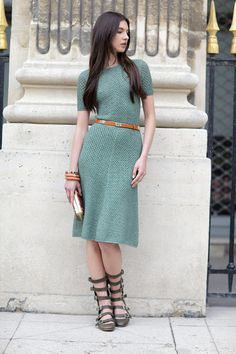 simple and elegant knit dress
