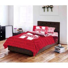 Ncaa University of Nebraska Cornhuskers Bed in a Bag Complete Bedding Set, Multicolor