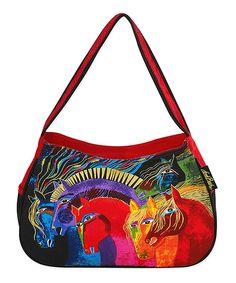 Love this Laurel Burch Red & Blue Wild Horses Shoulder Bag by Laurel Burch on #zulily! #zulilyfinds