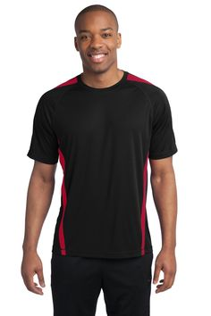 7e83922bfbc34 Sport-Tek Colorblock PosiCharge Competitor Tee. ST351