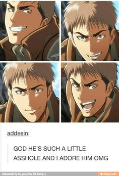 Jean Kirschtein, he's kind of a douche but if you don't love him I will judge you