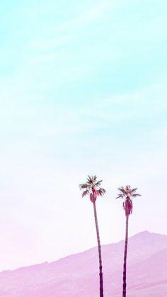 [おしゃれカラーシリーズ]山とツリーiPhone壁紙 iPhone 5/5S 6/6S PLUS SE Wallpaper Background
