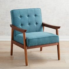 Fulton's hand upholstery and hardwood frame ensure long years of no-fuss service and accommodating style for any decor. It's possibly the most enduring modern style of occasional chair for one reason: It works just about anywhere.