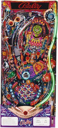 """Cirqus Voltaire"" | Pinball Playfield | #Pinball"
