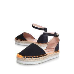 dominique, black/other shoe by miss kg - women shoes sandals espadrilles