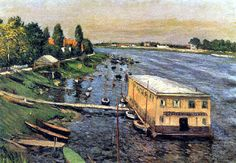 Gustave Caillebotte - The pontoon of Argenteuil