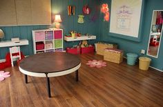 "How to turn an old table into a playroom stage for kids.....THIS MAY be the solution to the ""we don't have room for a stage nicole..."" problem"