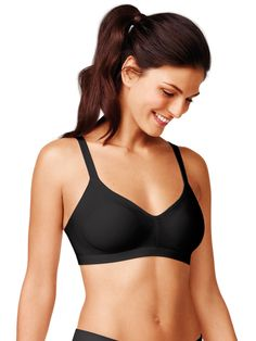 e468bf6ac0a Say goodbye to underarm bulge! This wireless bra features extra side  coverage panels to comfortably and discreetly smooth out sleevage.