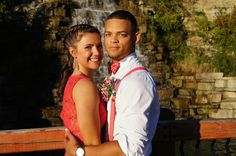 My sister and her Bf for homecoming.  Riverside, Missouri