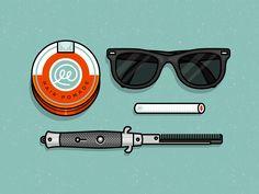 Dribbble - Cool Guy Stuff by Ryan Putnam