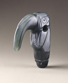 Bird Pendant, Costa Rica, 1st-5th century, jadeite