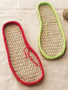 With this great tutorial, you can assemble your one-piece slippers to the sole or continue working a shoe on the sole's border edge. You will need basic crochet skills and knowledge of how to decrease and increase for this project. Materials you will...