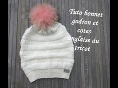 GONANISSIMA: TUTO BONNET GODRON COTES ANGLAISES AU TRICOT Easy ... Knitted Hats, Crochet Hats, Winter Hats, Beanie, Barbie Dolls, Knitting, Easy, Couture, Blog