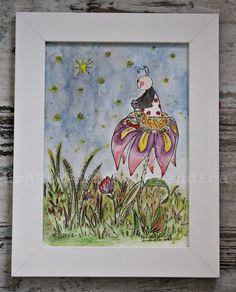 Ilustration of a Luckybug by Hrandica  SREČNOLONICA SANJA https://www.facebook.com/HrANDMADE-by-Hrandica-142051469180427/
