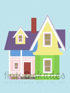 Up House 8x10 Minimalist Poster