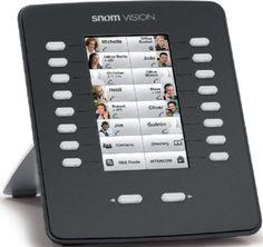 """Snom Technology EM800-BK Model 2291 Vision 800 Series Expansion Module, Black, 16 programmable keys x 3 page views, 2 control keys, Bi-color LEDs (Red/Green) for each of the 18 keys, Multi-page support for programmable key view, High resolution TFT touch screen color display, 4.3"""" (10,9cm) 272 x 480 pixels, 24 bits color depth, UPC 811819010865 (SNOEM800BK EM800BK EM-800-BK EM800 SNO-EM800-BK)"""