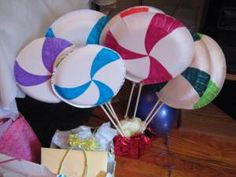 Homemade Candyland Decorations | Check back later for more idea for Candyland Birthday Party~