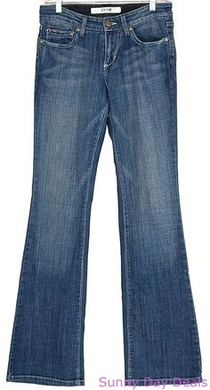 Joes Jeans Honey Boot Cut Cotton Blue 37AN5124 Pants Solid Womens 28 x 32 #JoesJeans #BootCut