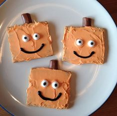 Spookley Graham Crackers - Spookley the Square Pumpkin Movie Night - Family… . Spookley Graham Crackers – Spookley the Square Pumpkin Movie Night – Family… Spookley Graham Halloween Snacks, Halloween Activities, Holidays Halloween, Halloween Pumpkins, Halloween Fun, Preschool Halloween Party, Class Activities, Halloween Projects, Classroom Activities