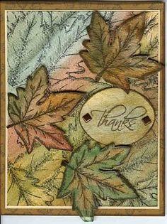 Oak Leaf Background Card