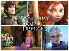 RISE OF THE BRAVE TANGLED DRAGONS by LeilaTheCastillo.deviantart.com on @DeviantArt