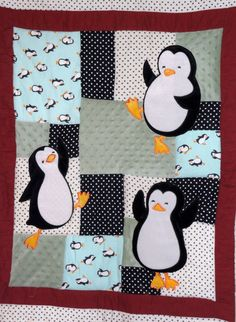 Happy Feet quilt, better link. --- I don't know who will love this more, my baby sister or mom! ---