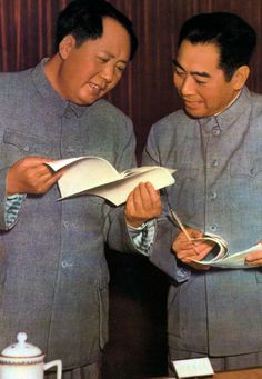 Mao Zedong and Zhou Enlai adopted the Zhongshan suit for its simplicity (Credit: Credit: Getty Images)