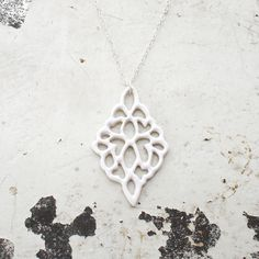 From one of my favorite artists // Carved Porcelain Pendant by Isabelle Abramson Ceramics Available Work Porcelain Clay, Porcelain Jewelry, Ceramic Jewelry, Ceramic Pottery, Ceramic Art, Knapper, White Heat, Beauty Regime, Ceramic Pendant