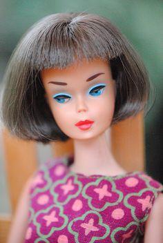 Silver Brunette 'American Girl' Barbie by bellasdolls | 'Weekenders' vintage Barbie outfit