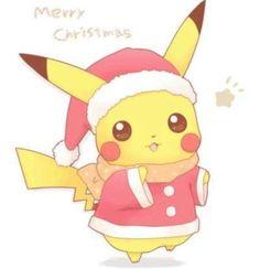 Kawaii Santa Pikachu